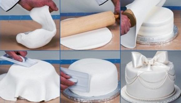 украшение тортов мастикой в домашних условиях видео уроки