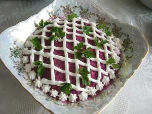 Рецепт приготовления салата Сельдь под шубой