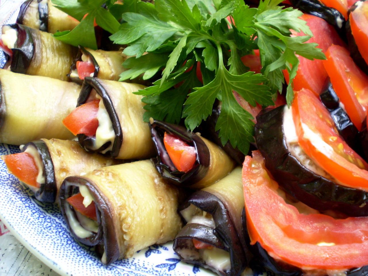 Салат тёщин язык из баклажан и помидор