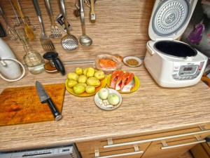 норвежская семга с картофелем