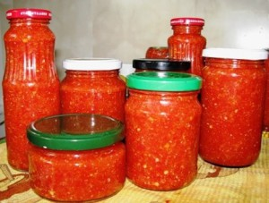 аджика из красных помидор
