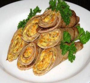 блинчики из печени закусочные