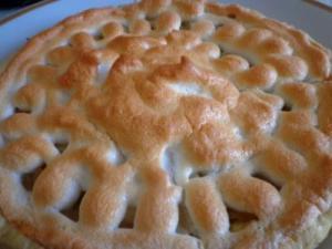 пирог яблоки на снегу