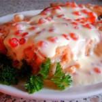 горбуша в икорном соусе