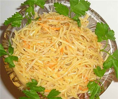 Салат корейский из картофеля рецепты