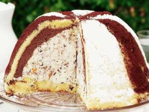 Зукотто итальянский десерт