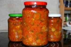 Салат из огурцов Зимняя сказка рецепт с фото