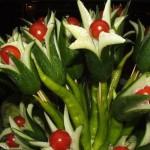 нарезка острые цветы