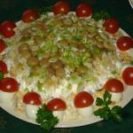 Салат праздничный с грибами