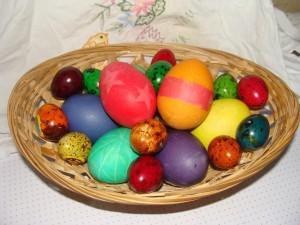 Яйца крашенки мраморные