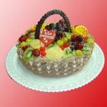 Торт корзина к юбилею