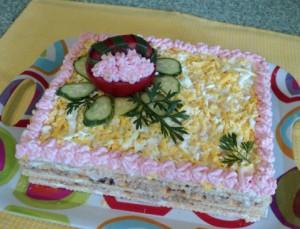 Закусочный соленый торт