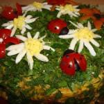 Закусочный торт Грибная поляна