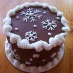 Украшение торта глазурью