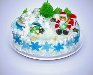 Все способы украшения новогодних тортов