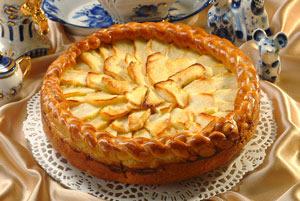 Пирог с яблоками Янтарный