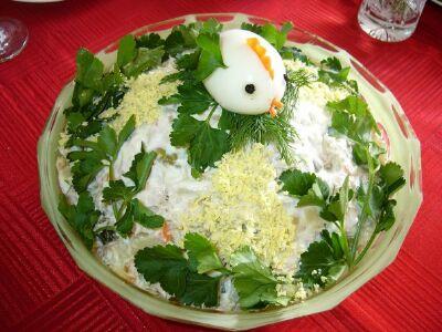 Салат с курицей Столичный