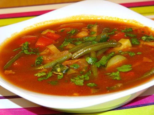 Суп с спаржевой фасолью
