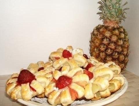 Домашнее печенье с ананасом