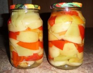 перец с яблоками