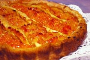 Французский пирог с кремом сабайон