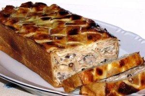 пирог блинный с мясом