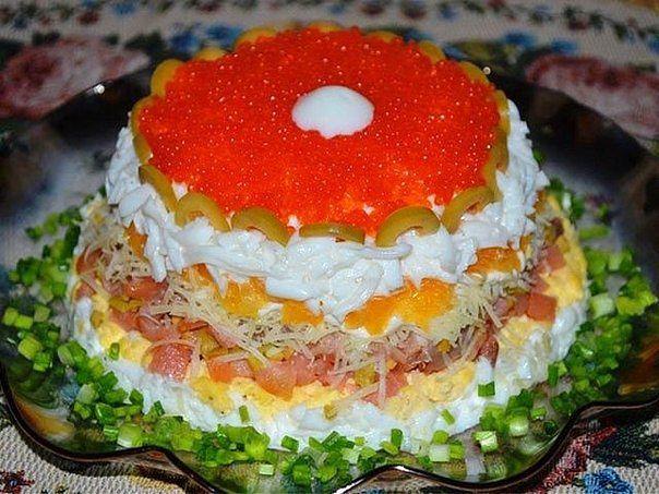 салат слоеный жемчужина