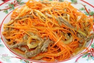Острая корейская закуска из мяса