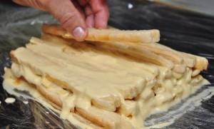 Торт слоенное полено рецепт с фото