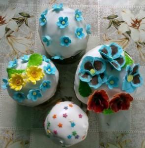 Цветочки для куличей из мастики