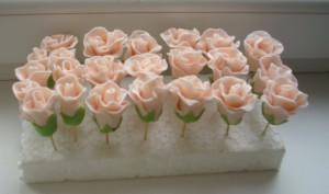 Цветы из мастики украшения на куличи торты