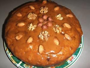 Ореховый пирог со сгущенкой в мультиварке