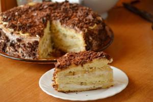 Торт Банановое наслаждение с творожным кремом и шоколадом
