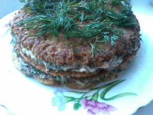 Рецепт мясного закусочного торта