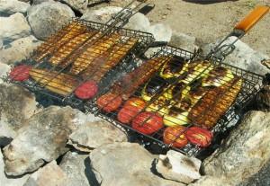 Как приготовить овощи на мангале
