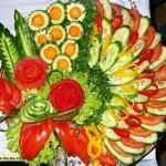 Украсить красиво овощную нарезку