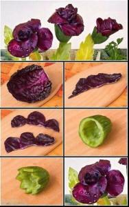 Цветы из овощей для праздничного стола