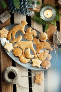 Печенье шведское с медом и соусом