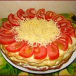 Кабачковый торт закусочный