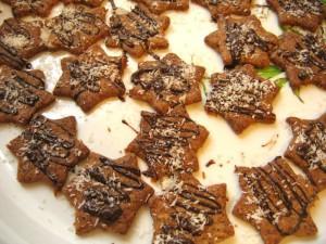 Шоколадно кокосовое печенье на Новый год