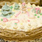 Праздничный новогодний торт