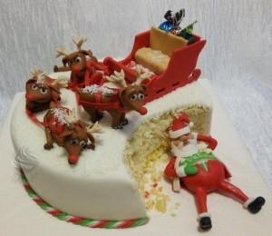 Украшаем торты на Новый год