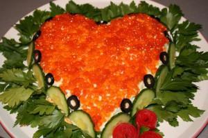 Салат серце