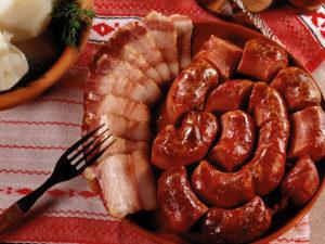 Домашние колбаски с говядиной