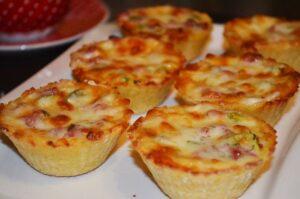 Картофельные тарталетки с грибами