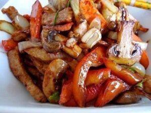 Свинина стир- фрай с овощами