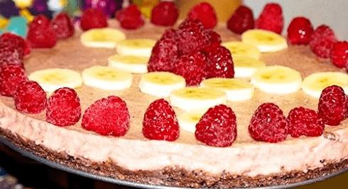 Торт клубничка без выпечки