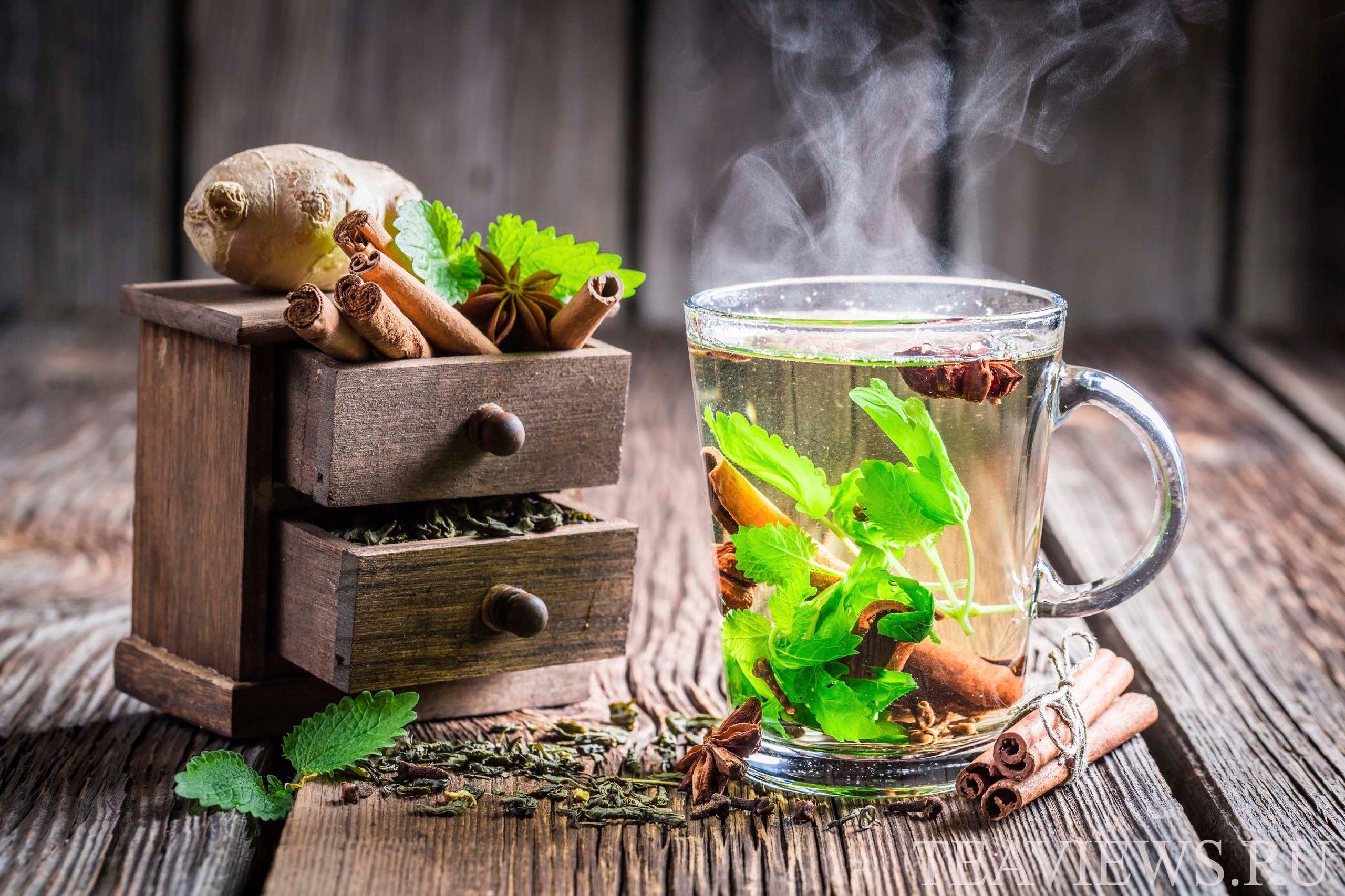 Холодный чай с имбирём