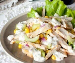салат с отварной куриной грудкой бюджетный