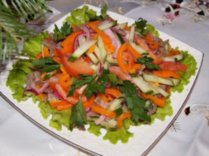 салат с языком простой вкусный